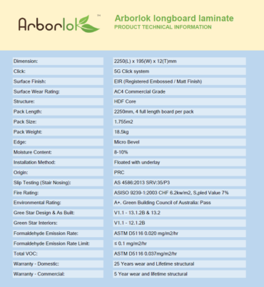 Arborlok Data Information Sheet